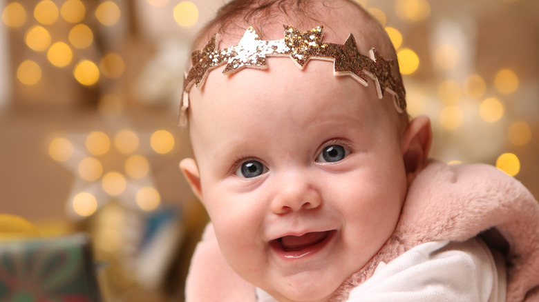little girl with sparkly star crown