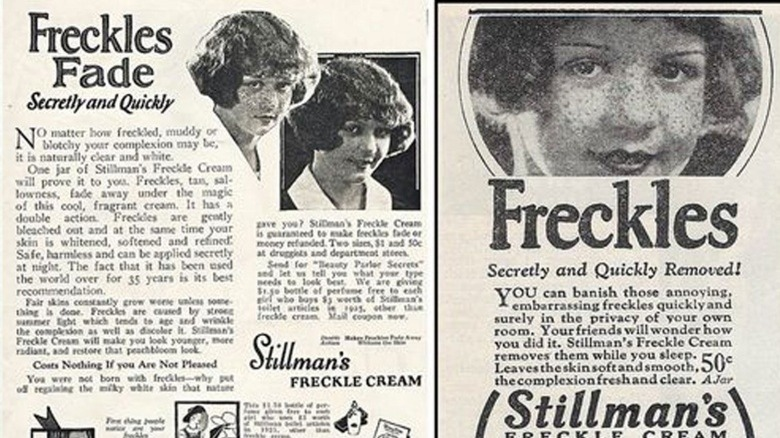 freckle cream beauty product