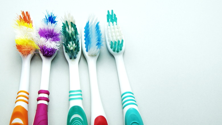 used toothbrushes