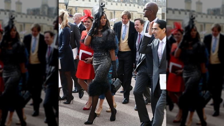 Naomi Campbell at Princess Eugenie's wedding