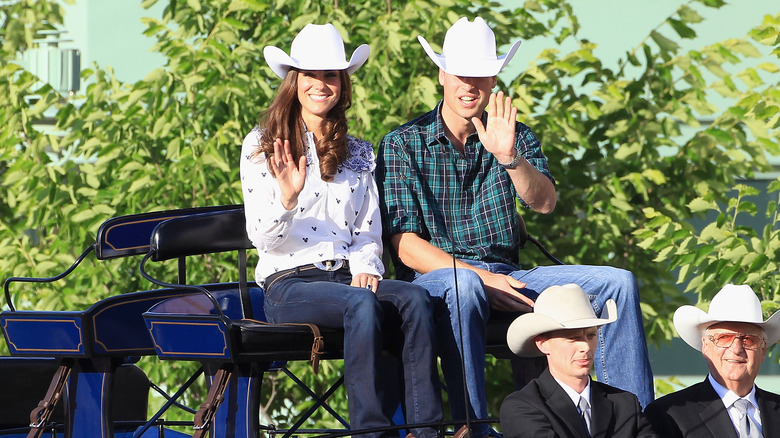Prince William Kate Middleton jeans hats