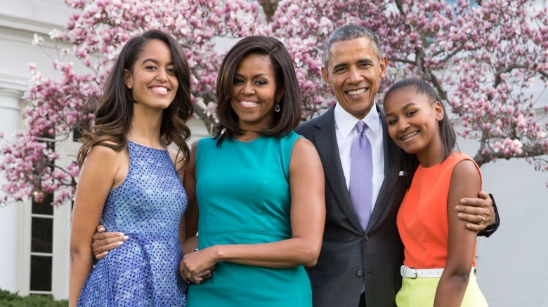 Obama family Malia, Michelle, Barack, Sasha