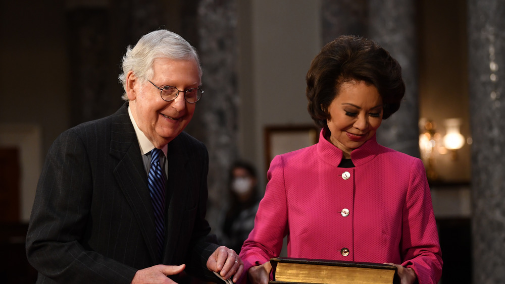 Mitch Mc Connell and Elaine Chao