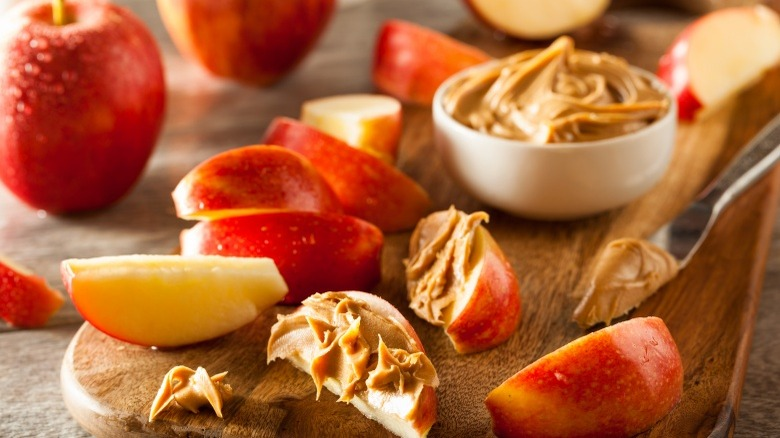 peanut butter apples