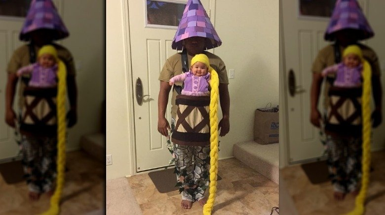 Baby in Rapunzel costume