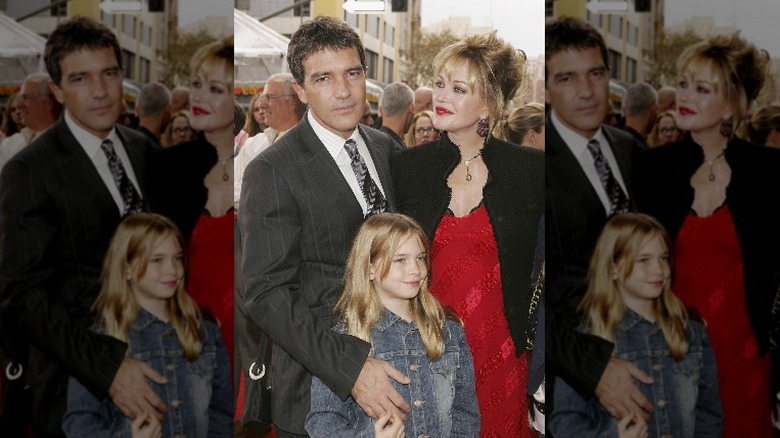 Melanie Griffith and Antonio Banderas' daughter with her parents