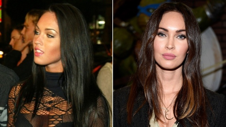 Megan Fox before and after eyebrows