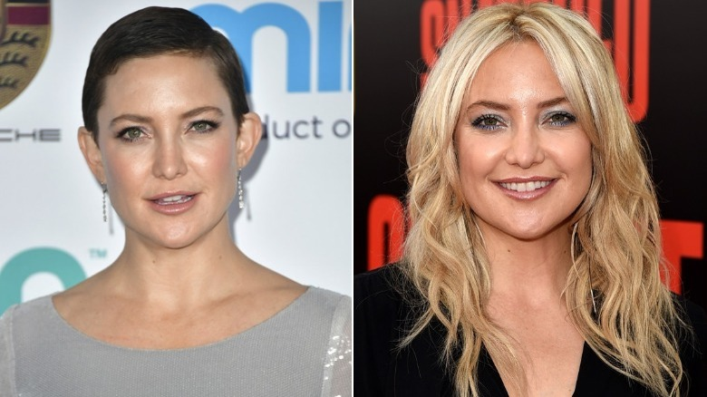 Kate Hudson before and after natural hair