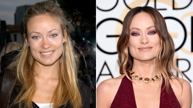 Olivia Wilde before and after natural hair