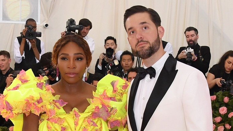 female athlete Serena Williams and Alexis Ohanian