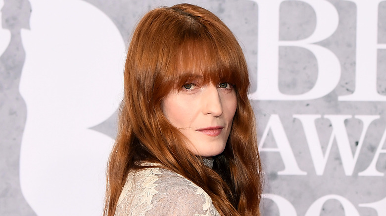Long bangs haircut for 2020, as seen on Florence Welch