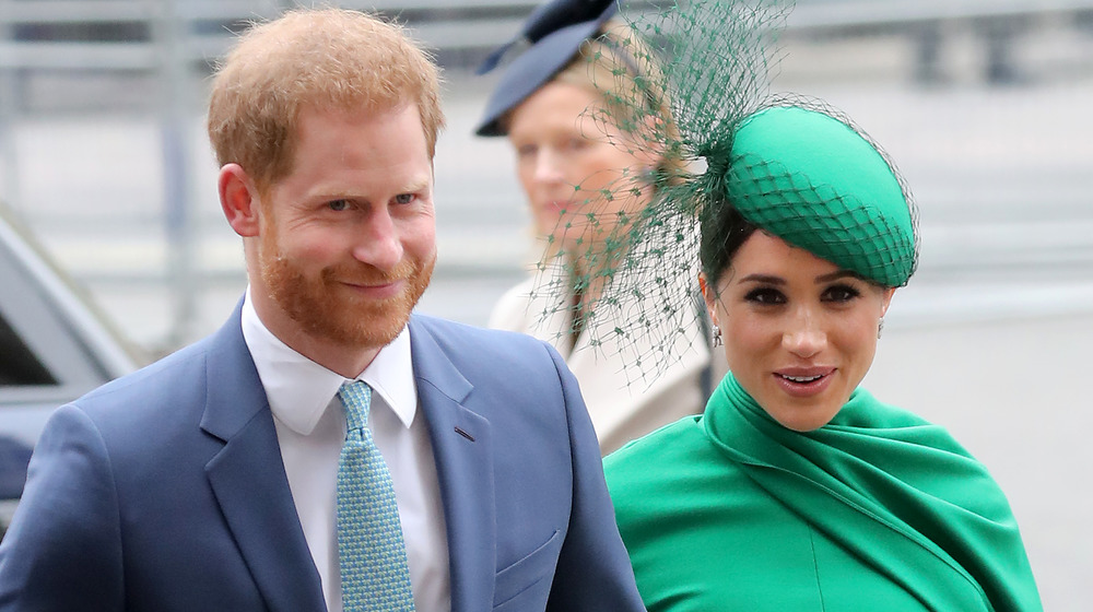 Meghan Markle and Prince Harry attending a wedding