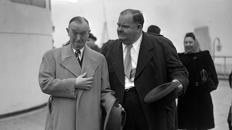 Stan Laurel and Oliver Hardy, 1947