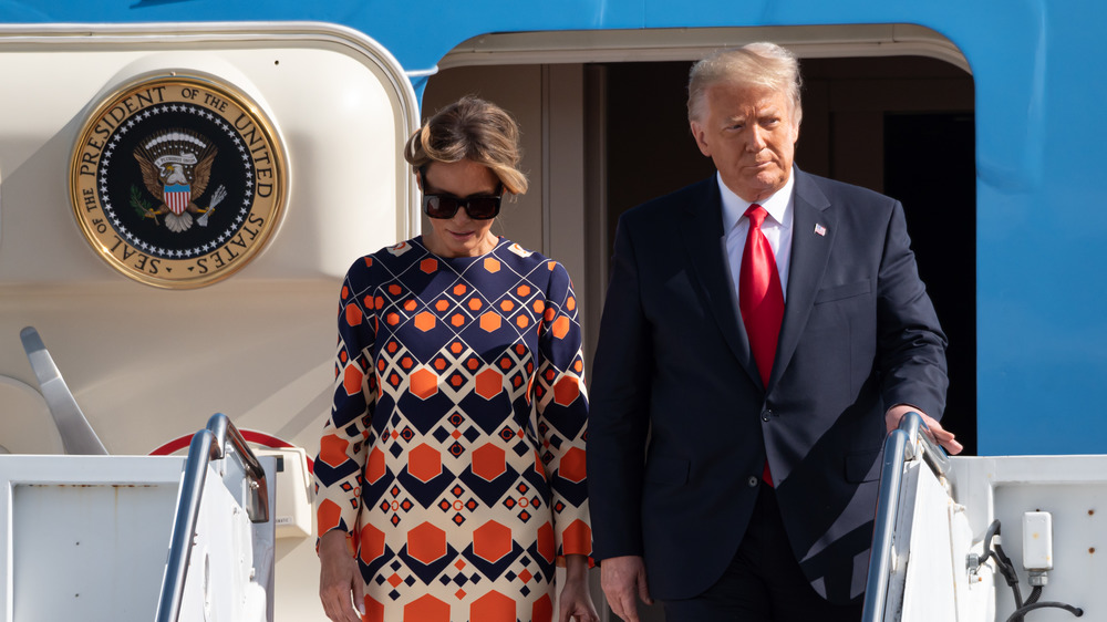 Melania Trump Was Quick To Do This After Landing In Florida