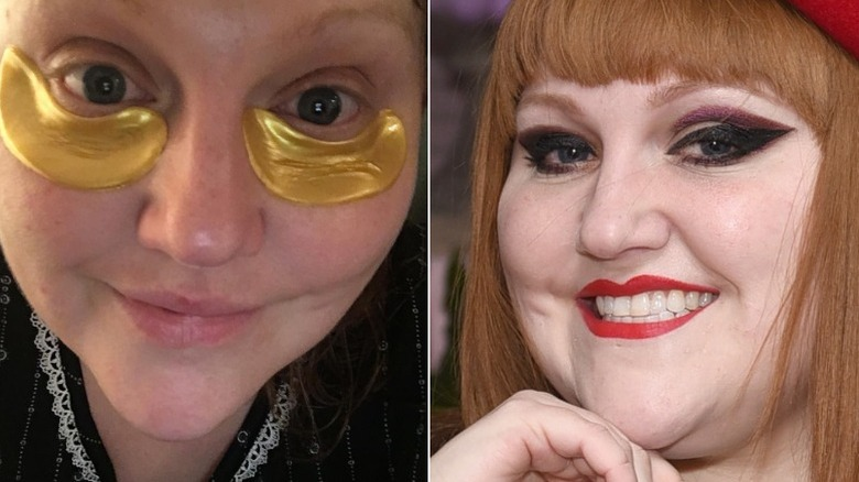 Beth Ditto without and with makeup