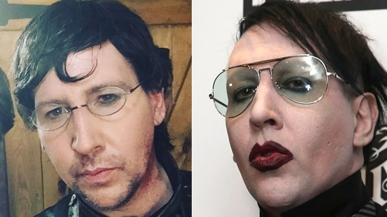 Marilyn Manson without and with makeup