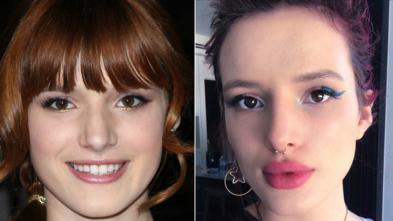 The most dramatic celeb makeup transformations getty images instagram via bellathorne publicscrutiny Choice Image