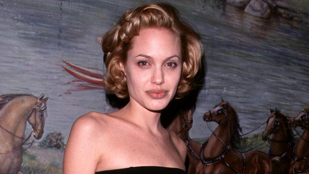 Angelina Jolie at a gala in 1998