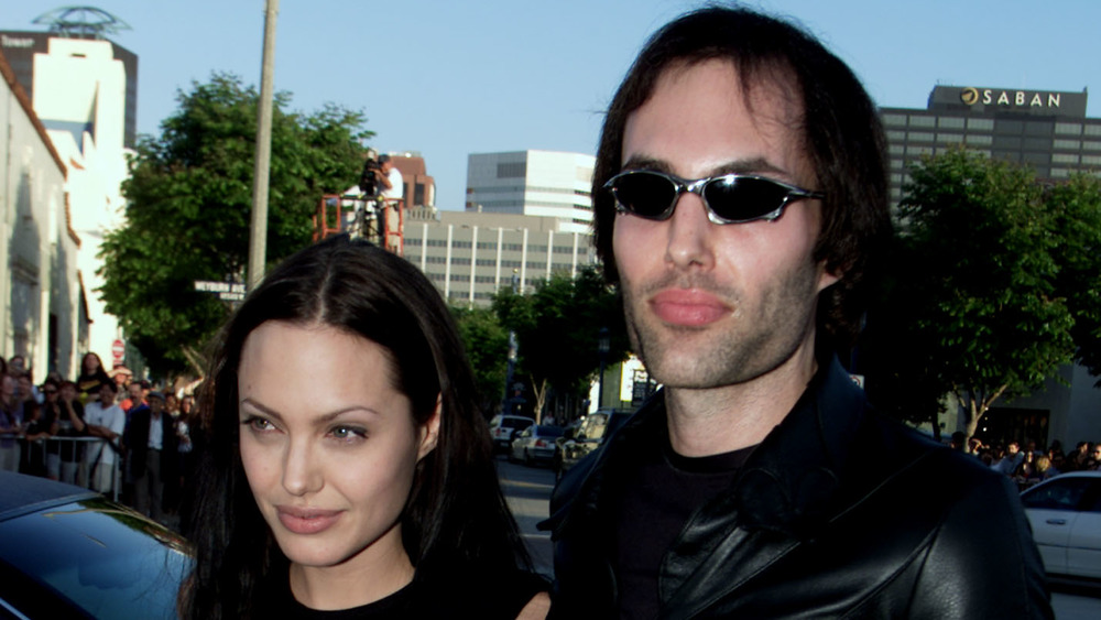 Angelina Jolie and her brother at the Tomb Raider premier
