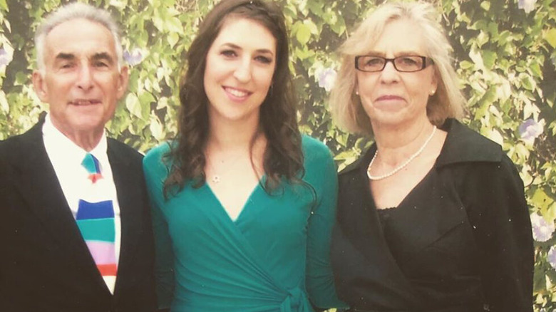 Mayim Bialik with two older family members