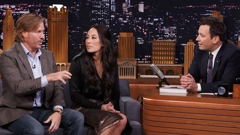 Chip and Joanna Gaines with Jimmy Fallon