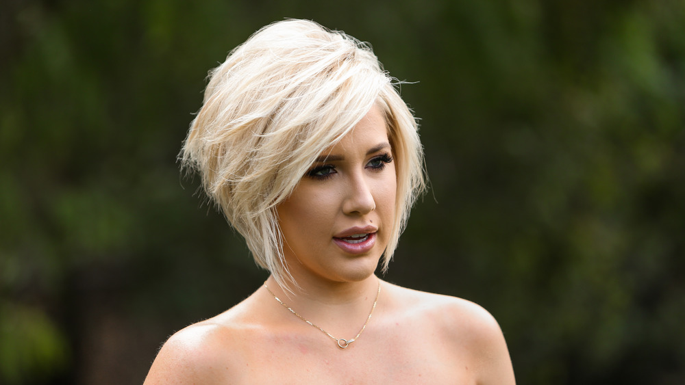 Savannah Chrisley close-up, outside