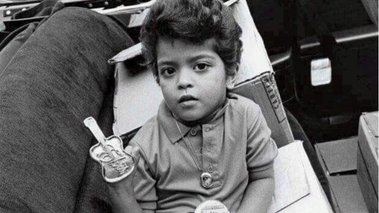 a139de9513 He wrote his first song at the age of four. Instagram via  brunomars