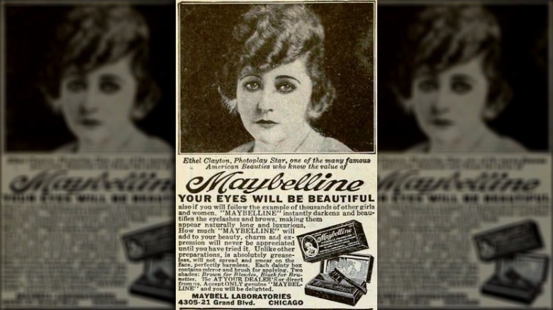 Maybelline ad, 1922