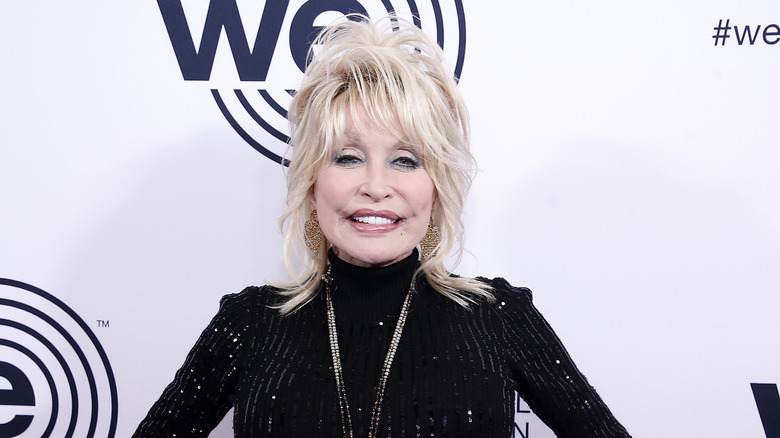 Dolly Parton on the red carpet in 2019