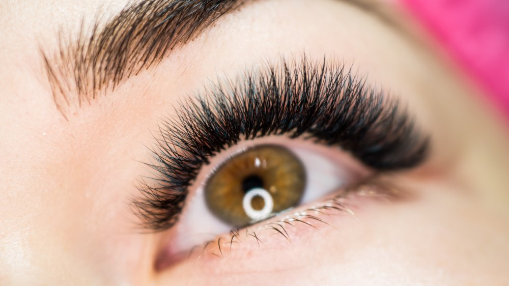 What happens when you put castor oil on your eyelashes?
