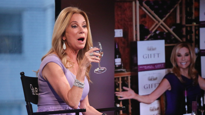 Kathie Lee Gifford with a glass of wine
