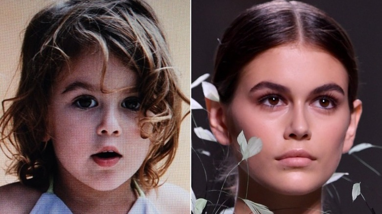 Kaia Gerber, then and now