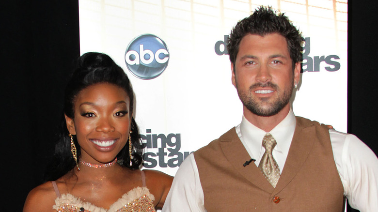 Brandy and Maksim Chmerkovskiy DWTS