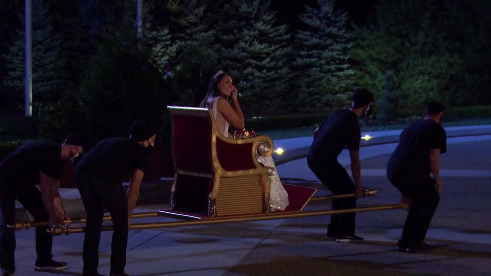 Victoria Larson making her entrance on The Bachelor